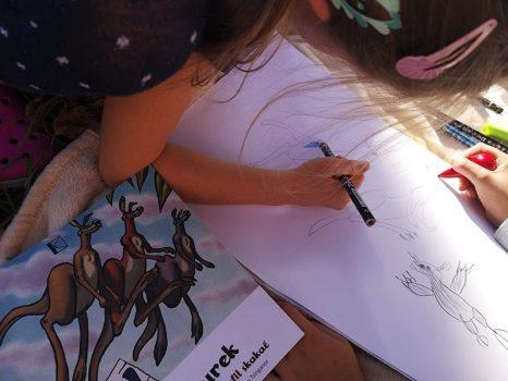 kevin-the-kangaroo-girl-drawing-wombat